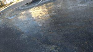 ニューポートの朝の道路